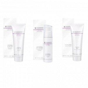 """Янсен Набор """"Комплексный уход Себоконтроль"""", 3 продукта (Janssen Cosmetics, Oily skin)"""