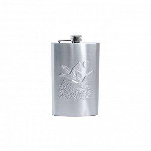 """Фляжка подарочная """"Утки"""", 10 OZ (300 г), нерж. сталь,в коробке (YH-10С)"""