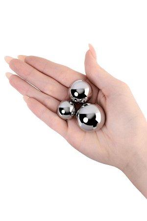 Набор вагинальных шариков: 3 шт, металлические d=2,8мм, 2,3мм, 1,8 мм