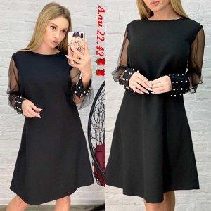 Платье женское в размер. Ткань барби.