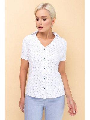 Блуза ВЕТА Очень красивая, нежная, женственная блуза, выполнена из высококачественного, натурального, тонкого жаккардового рубашечного полотна с эластаном. У блузы интересно выполнена полочка, боковые