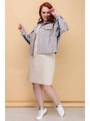 Платье ЮМА Элегантное женственное платье полуприлегающего силуэта, выполнено из тонкого хлопкового костюмного полотна с эластаном, с приятной лицевой поверхностью. Эта ткань обладает высокой