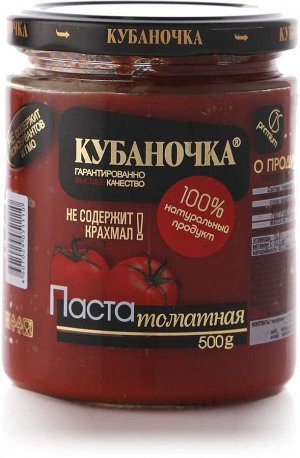 "Томат-паста ""Кубаночка"" 0,5кг 1/12"
