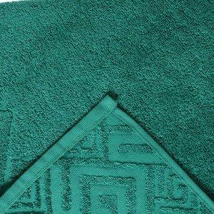 Полотенце махровое «Poseidon» цвет зелёный, 70х130