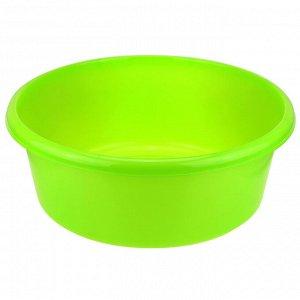 Таз пластмассовый 14л, д40,5см, h15см, ярко-зеленый (Россия)