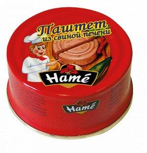 """Паштет """"Хаме"""" 117г из свиной печени"""
