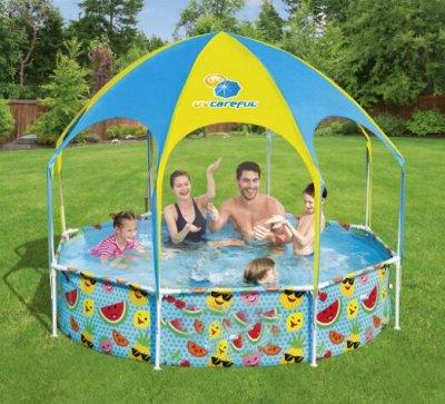 🏕️ Товары для отдыха! Стулья,палатки! ⛺ Майские праздники🥩🍖 — Каркасный бассейн с навесом — Туризм и активный отдых