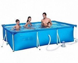 Каркасный прямоугольный бассейн+фильтр-насос