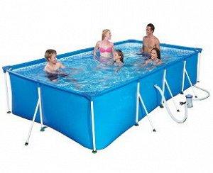 Каркасный прямоугольный бассейн + ильтр-насос