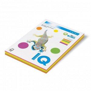 Бумага цветная А4 200 л, IQ COLOR, 80 г/м2, GN/GB/OR/PI по 50л