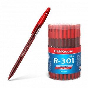 Ручка шариковая Erich Krause R-301 Original Stick узел 0.7мм, чернила красные 46774