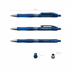 Ручка шариковая автоматическая Megapolis Concept, резиновый упор, узел 0.7 мм, чернила синие, длина линии письма 1000 метров