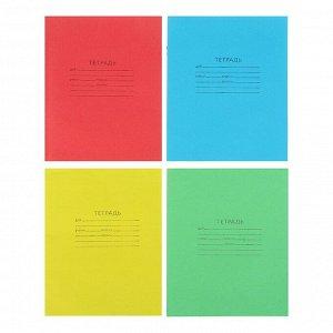 """Тетрадь 18 листов линейка """"Зелёная обложка"""", блок №2, 58-63 г/м2, белизна 75%, микс"""