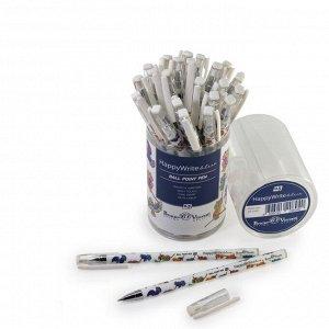 Ручка шариковая HappyWrite «Яркие совы», узел 0.5 мм, синие чернила, матовый корпус Silk Touch