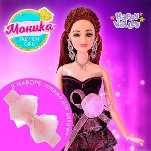 Кукла модель шарнирная «Моника», в наборе повязка для девочки