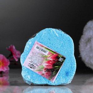 """Шипучая бомбочка """"Цветок"""" с ароматом лаванды, голубая"""