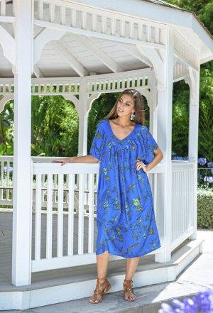 Платье 2524 N-17V 2524 N-17V Платье FREE SIZE (2), синий фон 2 Материал: вискоза