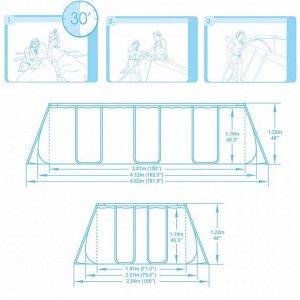 Каркасный бассейн+ насос +лестница