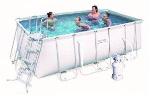 Каркасный бассейн+печтаный фильтр+лестница