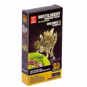Пазл 3D «Стегозавр», светится в темноте