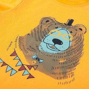 Лонгслив KOGANKIDS Умный медведь для мальчика