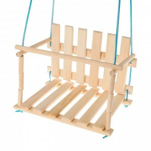 Качели детские «Садовые», сиденье: 45 ? 35 см, высота спинки: 27 см