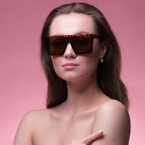 "Очки солнцезащитные ""Мастер К."", uv 400, 15х15.5х5 см, линза 5.5х5.5, леопардовые"