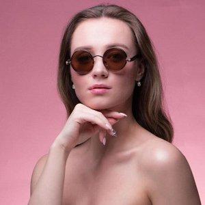 Очки солнцезащитные Футуристические. Оправа и дужки золото, линзы микс, 3 ? 5.5 ? 14.5 см