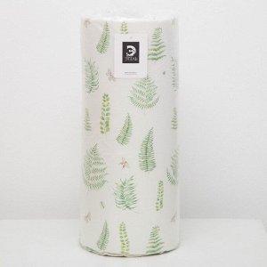Подушка на шезлонг «Этель» Листья 55?190+2 см, репс с пропиткой ВМГО, 100% хлопок