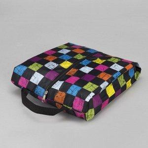 Сумка для обуви, отдел на молнии, цвет чёрный/разноцветный