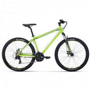 """Велосипед 27,5"""" Forward Sporting 2.0 disc, 2020, цвет светло-зелёный/серый, размер 17"""""""