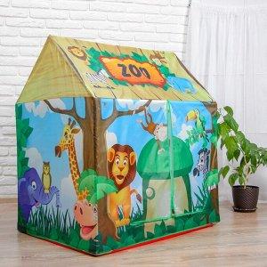 Детская игровая палатка «Зоопарк» 93*70*103 см