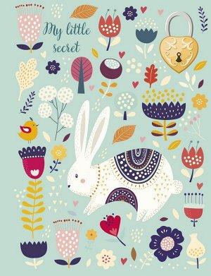 Блокнот с замочком. Веселый кролик (в подарочном коробе, 160 стр., цветной)