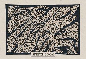 Скетчбук. Леопардовые сны (формат В5, 128 стр, открытый корешок, бумага слоновая кость)