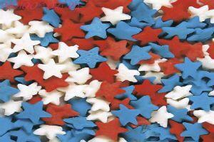 Посыпка Звёзды красно-бело-синие 50 гр.