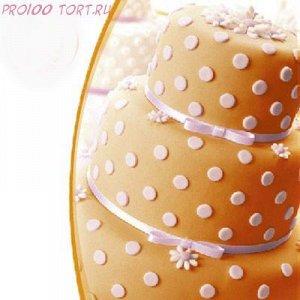 Мастика сахарная Оранжевая вес 600 гр.