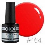 Гель лак Oxxi № 164(яркий красно-оранжевый, неоновый)