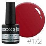 Гель лак Oxxi № 172(темный красный, эмаль)