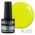 Гель лак Oxxi № 241(яркий лимонно-желтый, неоновый)