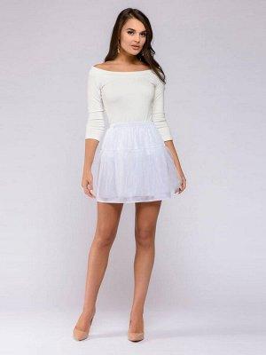 Нижняя юбка белая длины мини