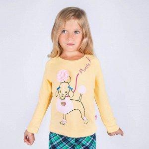 Лонгслив Moccis Poodle жёлтый для девочки