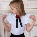 Блузка Соль&Перец короткий рукав с брошью