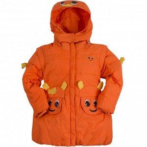 Пальто KTH Fei Long для девочки оранжевый