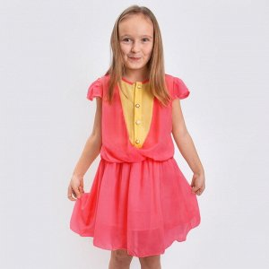 Платье Миледи подростковое Цвет: коралловый
