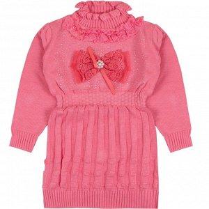 Платье-туника Бант вязаное для девочки