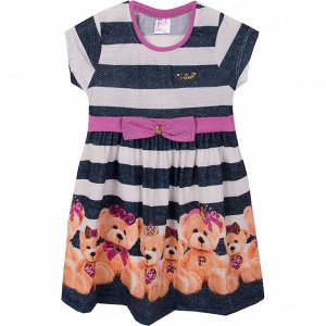 Платье Pink Favorite Bear для девочки сиреневый