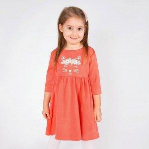 Платье У+ интерлок для девочки