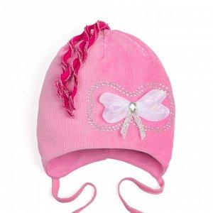 Шапочка Bilal Бант розовая для девочки