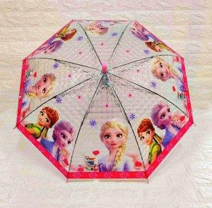 """Зонт-трость детский 3D """"Холодное сердце"""""""