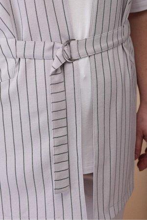 Костюм Костюм Linia-L А-1811 серый/белый  Сезон: Весна-Лето Рост: 164  Современная динамичная женщина всё чаще выбирает брючный костюм и кеды - это одновременно красиво, удобно, и позволяет не сбавля